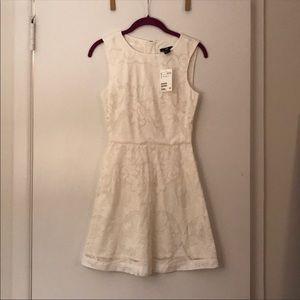 White lace mini A-line dress NWT